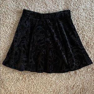 Forever 21 Black Velvet Skirt